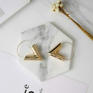 Jewelry - Gold V Shaped Earrings